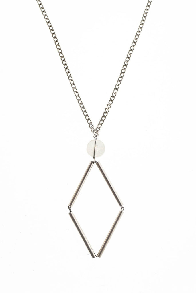Silver edition quartz: made of hand-cut, hand polished and galvanized brass and quartz.