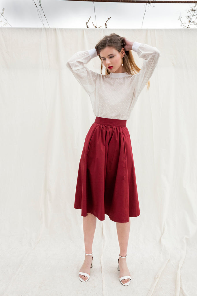 Midi poplin Lina skirt by Chicks on Chic