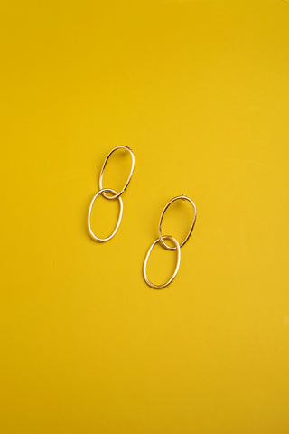 Romana earrings matte finish