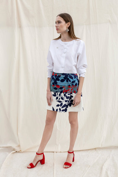 White cropped cotton blouse by Chicks on Chic