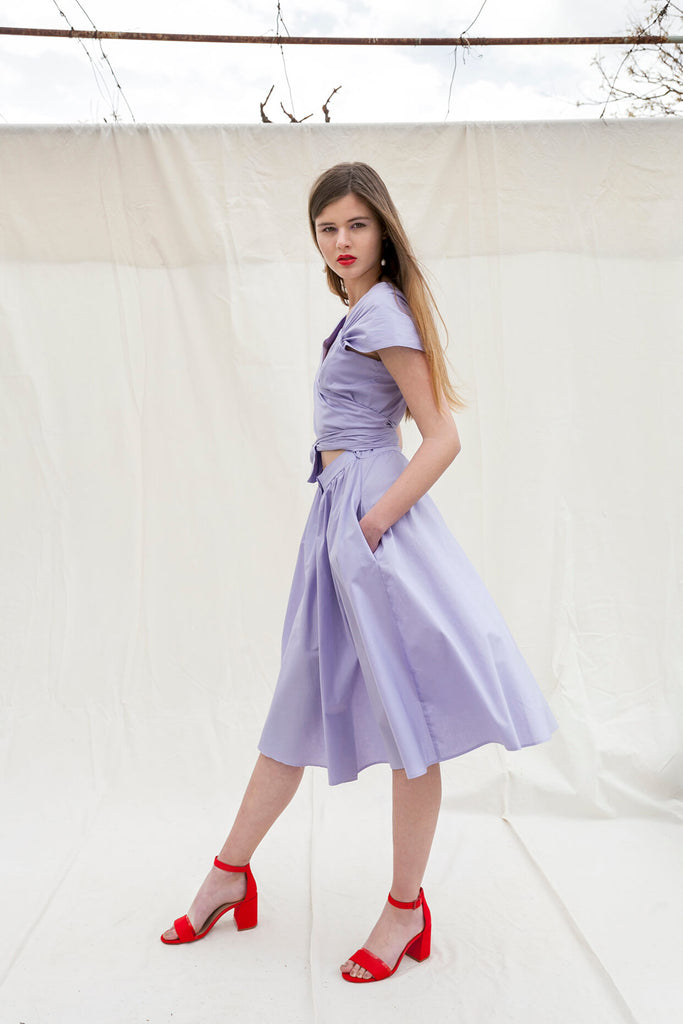 Paloma dress in lavender by Chicks on Chic