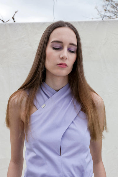 X top by Chicks on Chic in lavender colour