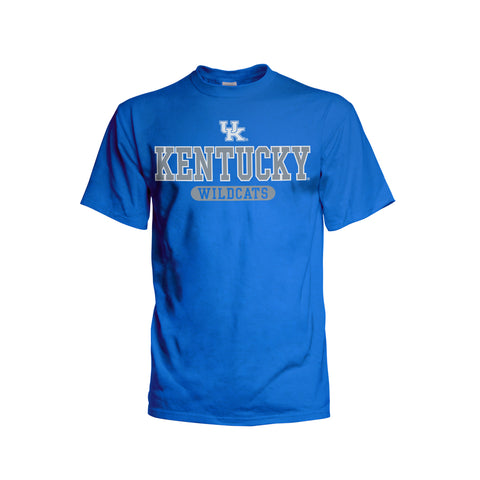 Kentucky Wildcats Stacked Short Sleeve Tee - Royal