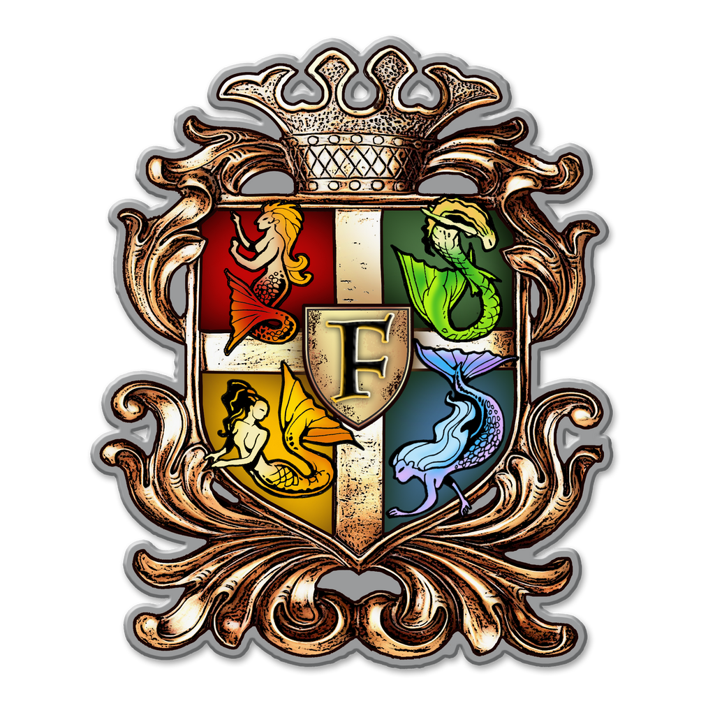 Finfolk Crest Sticker