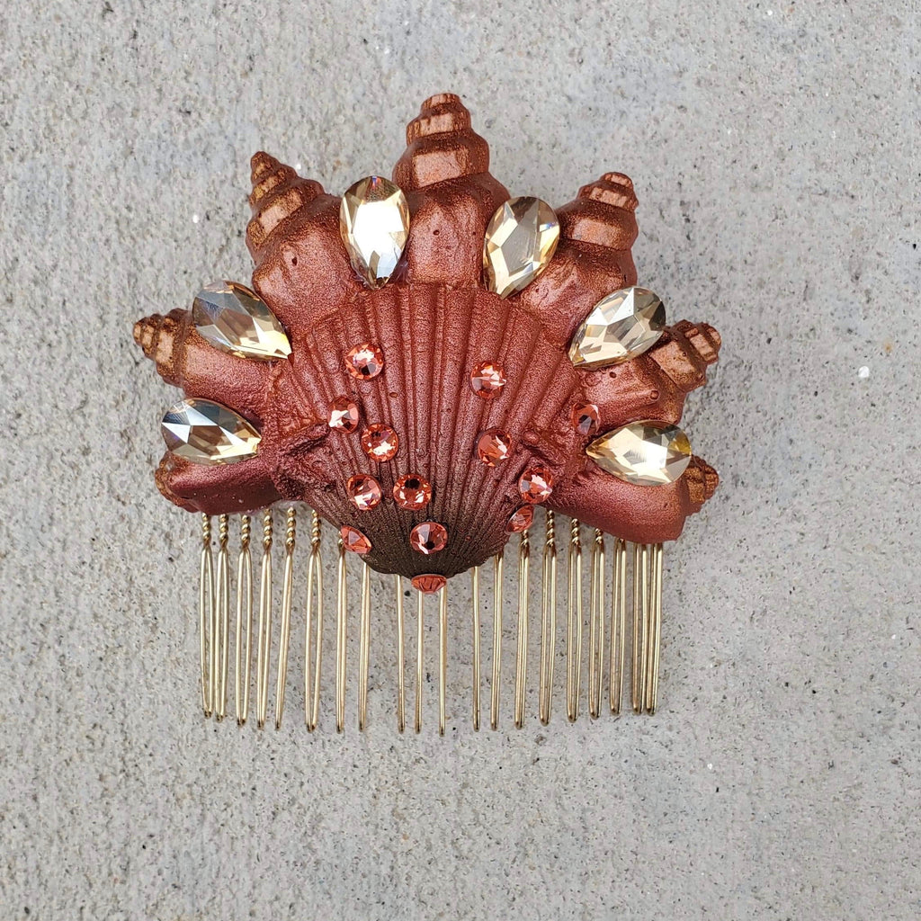 Autumn Morning Seashell Comb
