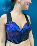 Premade Gold & Teal Kelpie Silicone Top