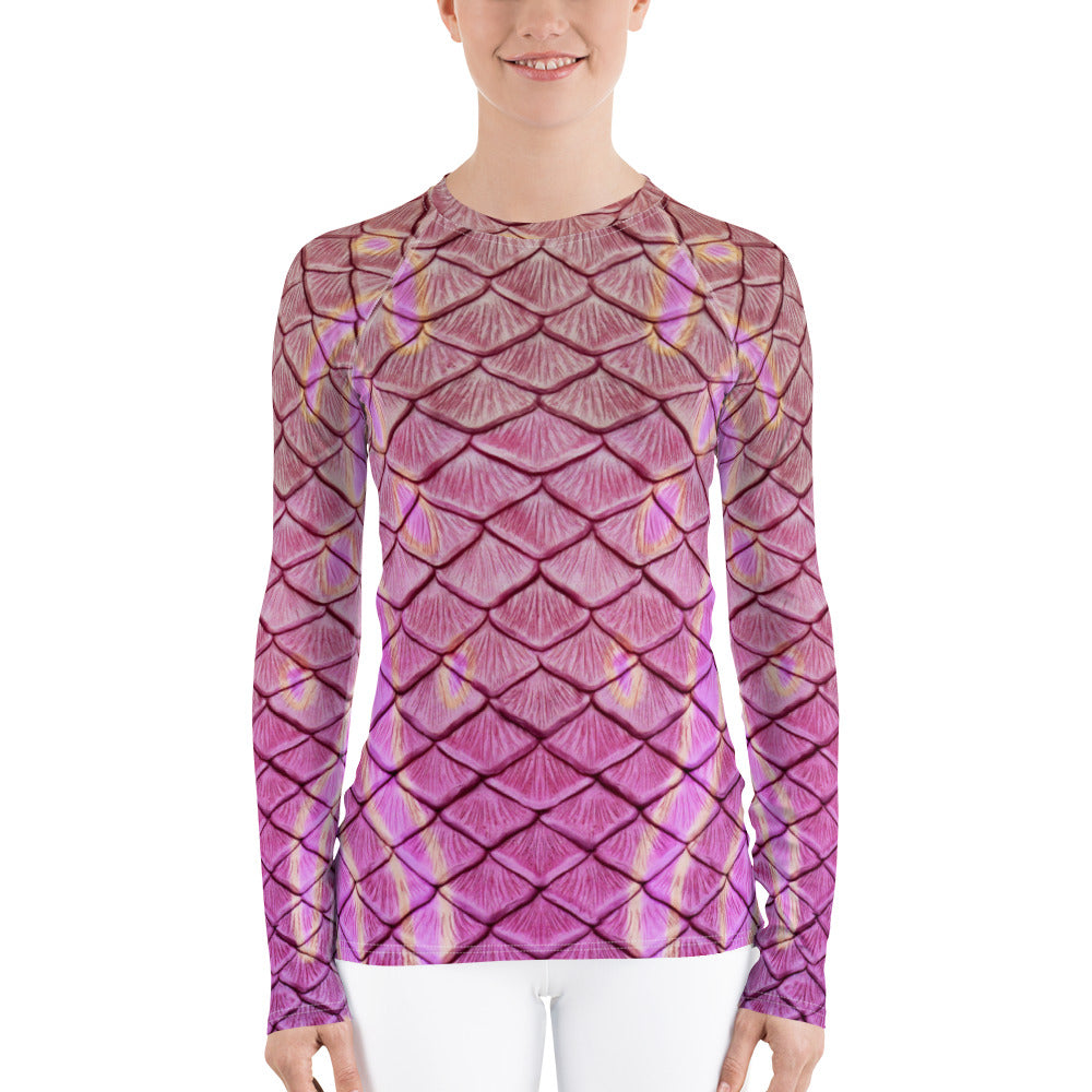 Syrena's Song Fitted Rash Guard