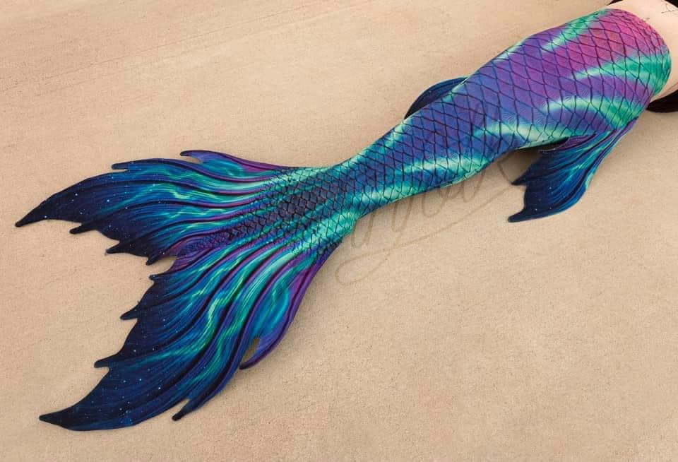Aurora Borealis Fabric Tail