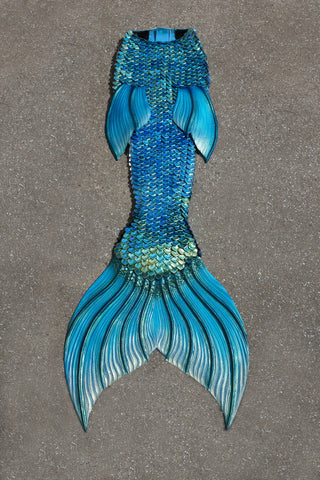 Celestial Iris- Color Changing Silicone Tail, Available Immediately