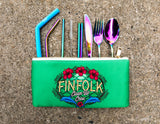 Finfolk Clean-Up Crew Reusable Silverware & Straw Set