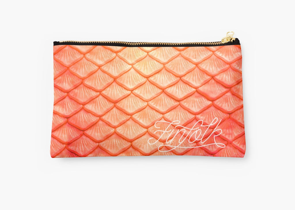 Orange Scale Clutch Bag
