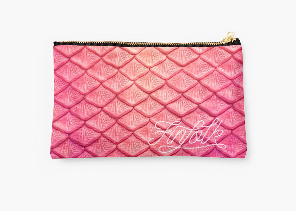 Pink Scale Clutch Bag: PRESALE