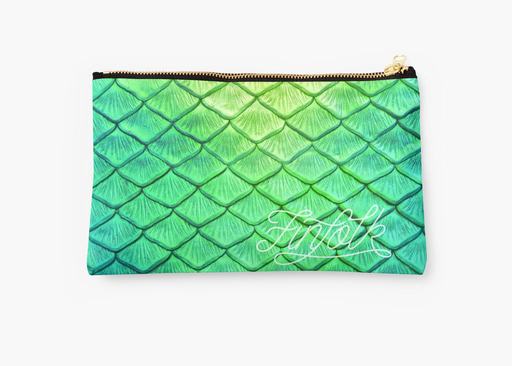 Green Scale Clutch Bag