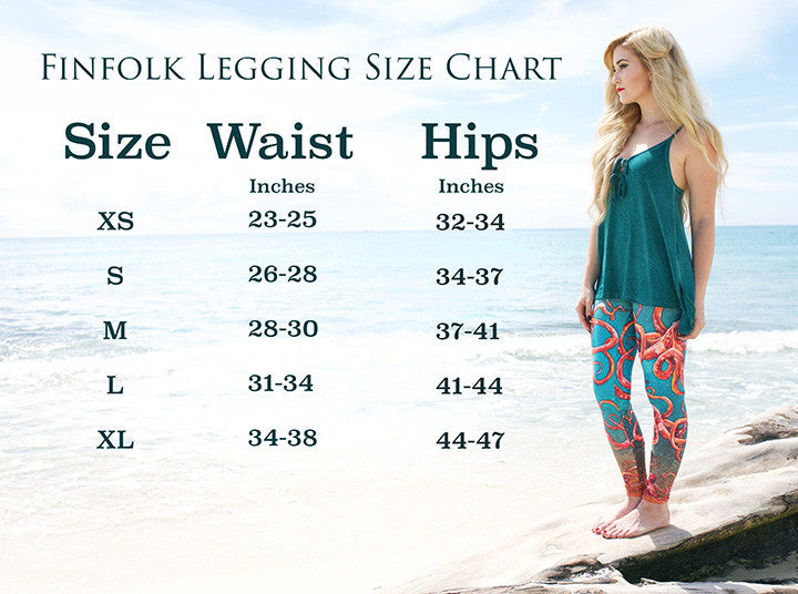 Tail Scale Leggings: Sea Sapphire Blue