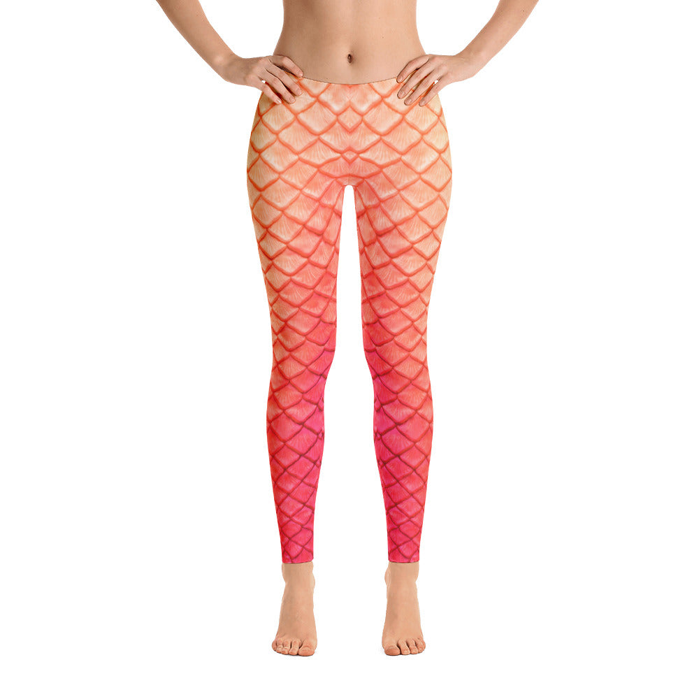 Tail Scale Leggings: Peachy Keen