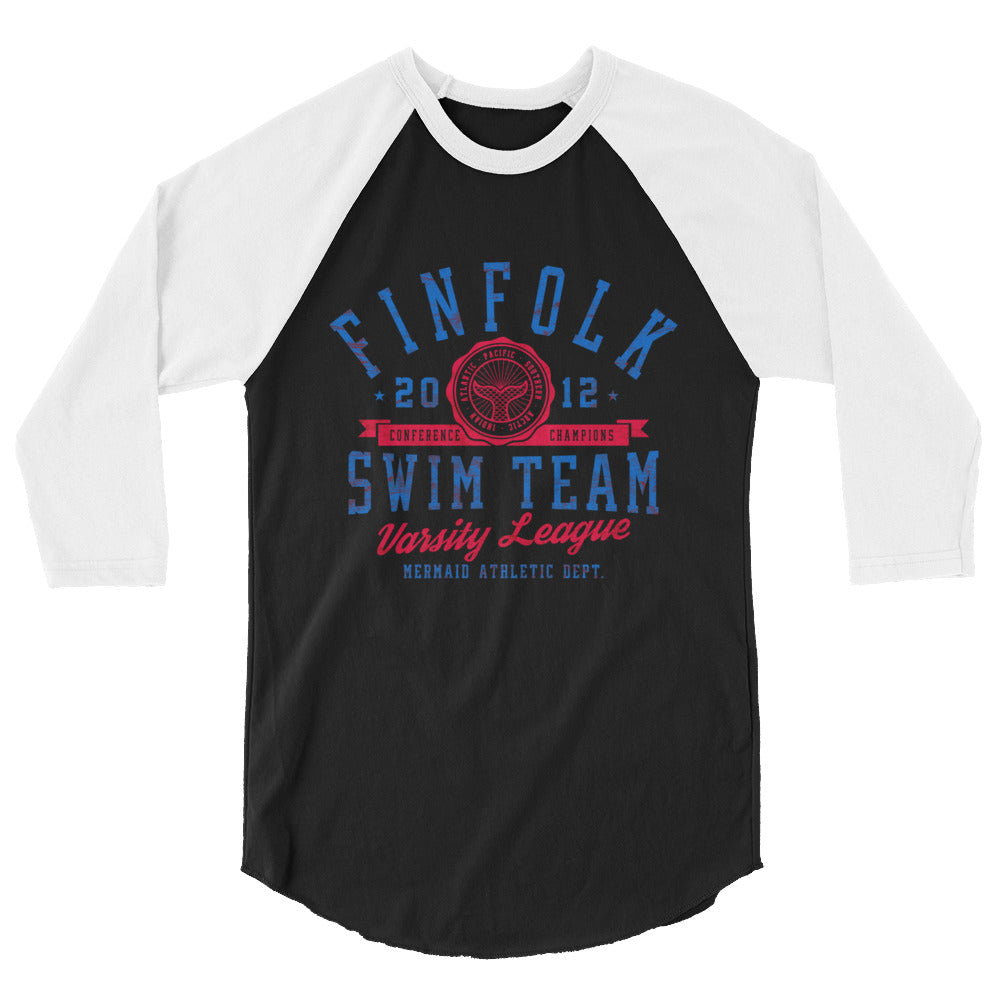 Finfolk Swim Team 3/4 Shirt- Red&Blue
