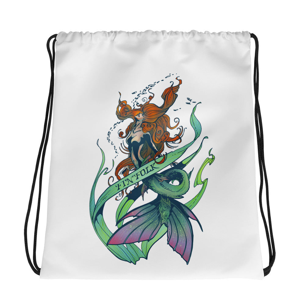 Watercolor Dream Drawstring Bag