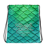 Shoal Green Drawstring Bag