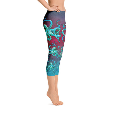 Tail Scale Leggings: Kauai Kiss