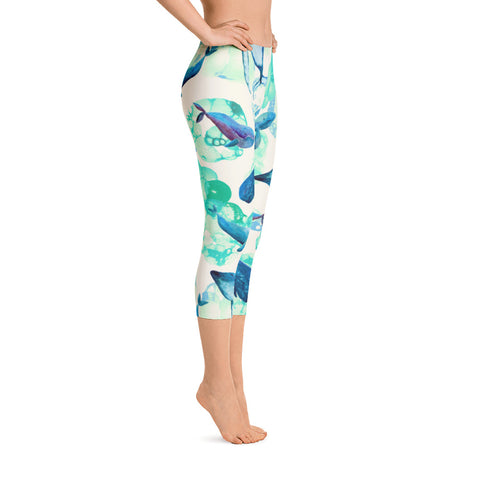 Tail Scale Leggings: Aqua Fairy