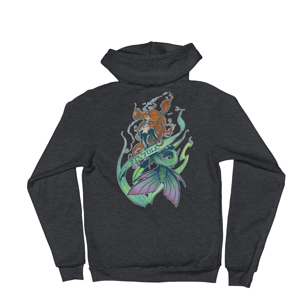 Watercolor Mermaid Hoodie