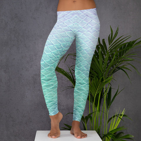 Tail Scale Leggings: Shoal Green