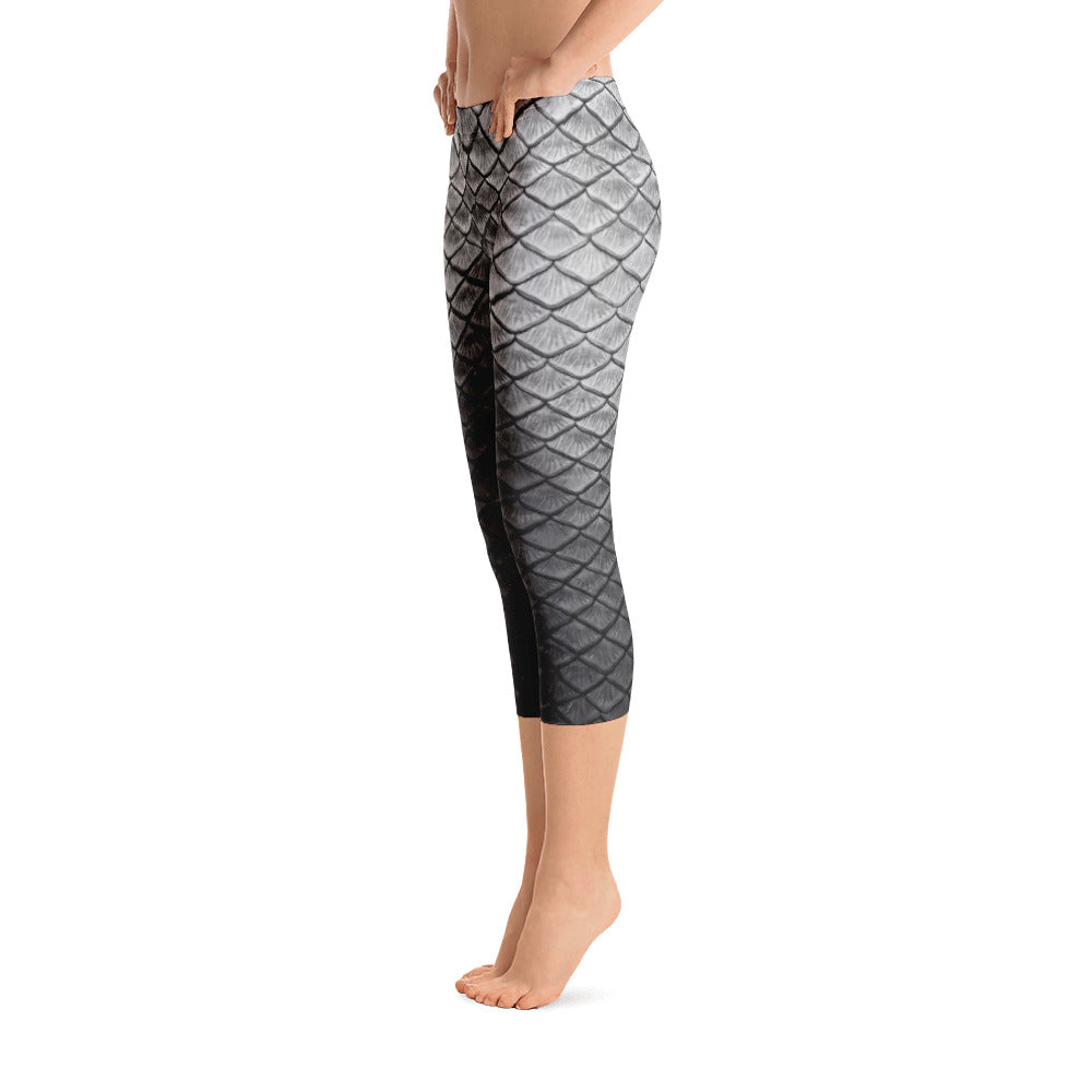 Starcrossed Silver Capri Leggings