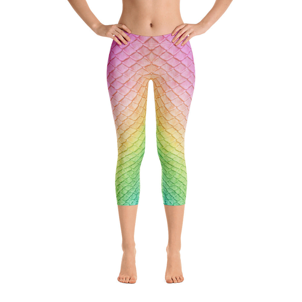 Rainbow Fairytail Capri Leggings