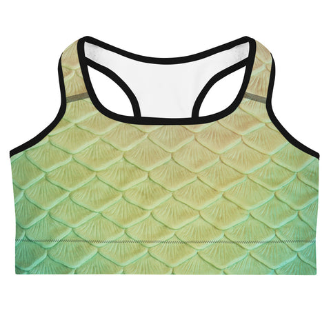 Turquoise Sunrise Sports bra