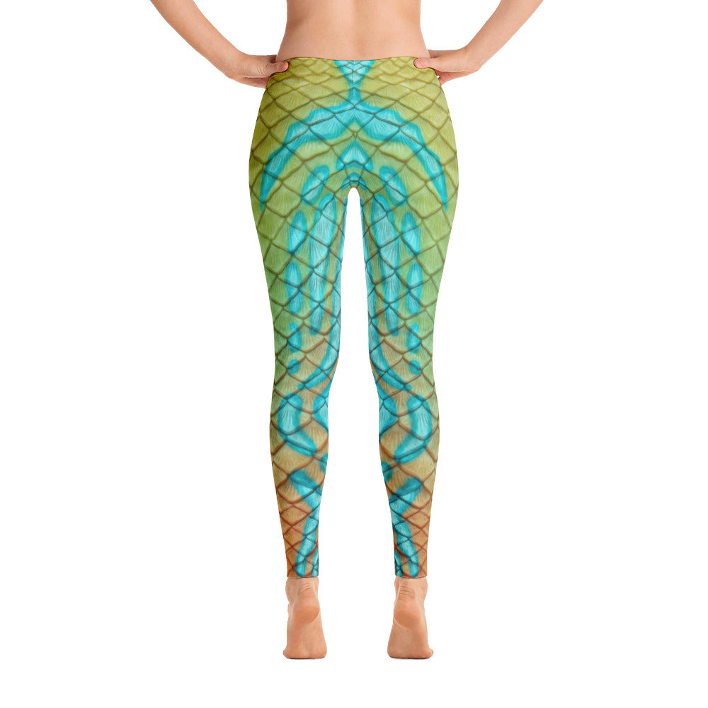 Tail Scale Leggings: Mandarin