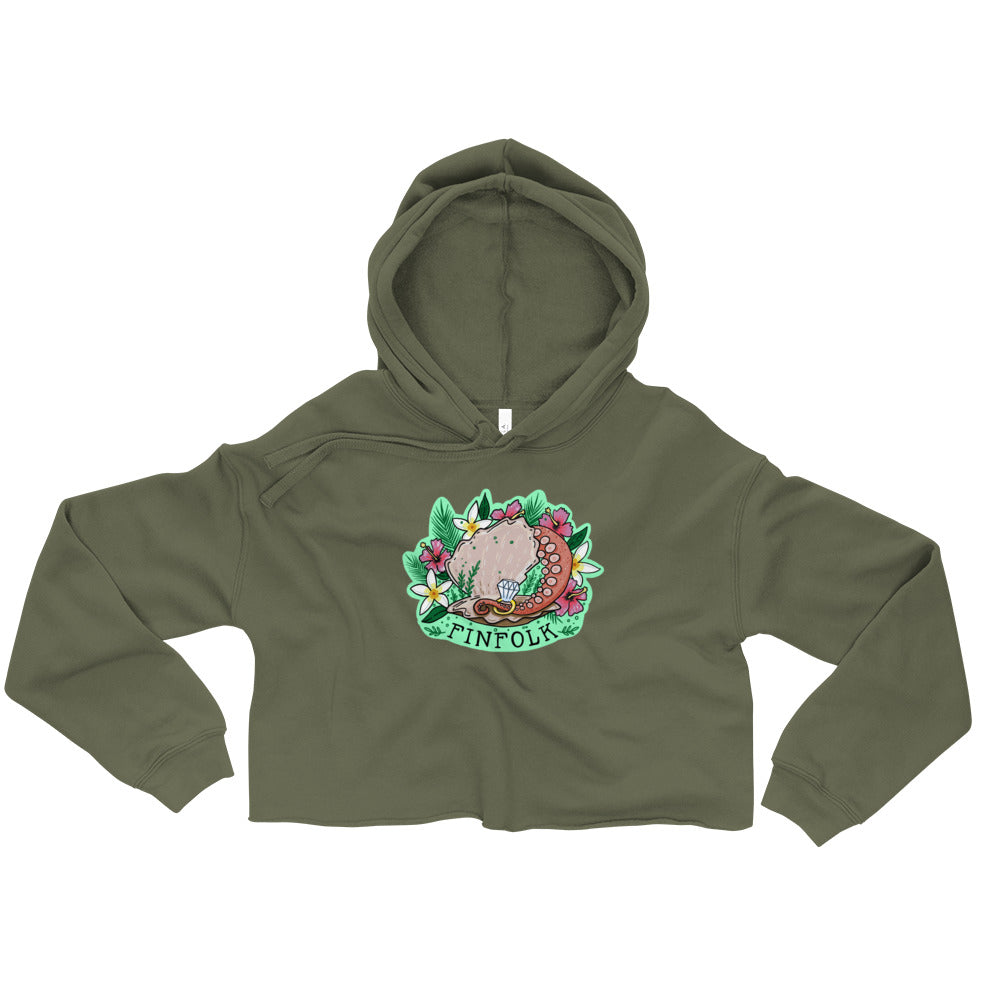 Sucker for You Crop Hoodie