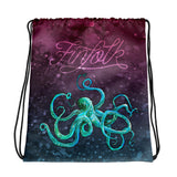 Cosmic Kraken Drawstring Bag