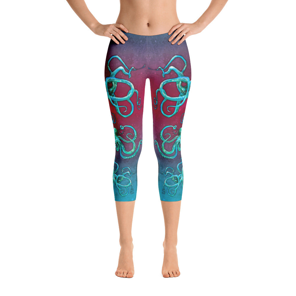 Cosmic Kraken Capri Leggings