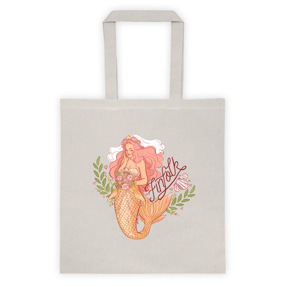 Mermaid Bride Canvas Tote