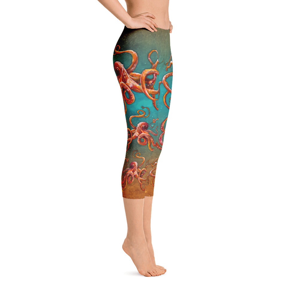 Curious Kraken Capri Leggings