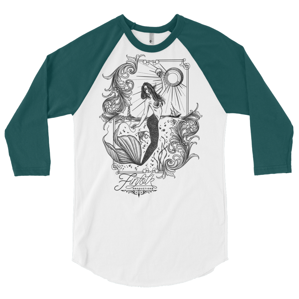 Tattooed Lagoon 3/4 Sleeve Raglan Shirt
