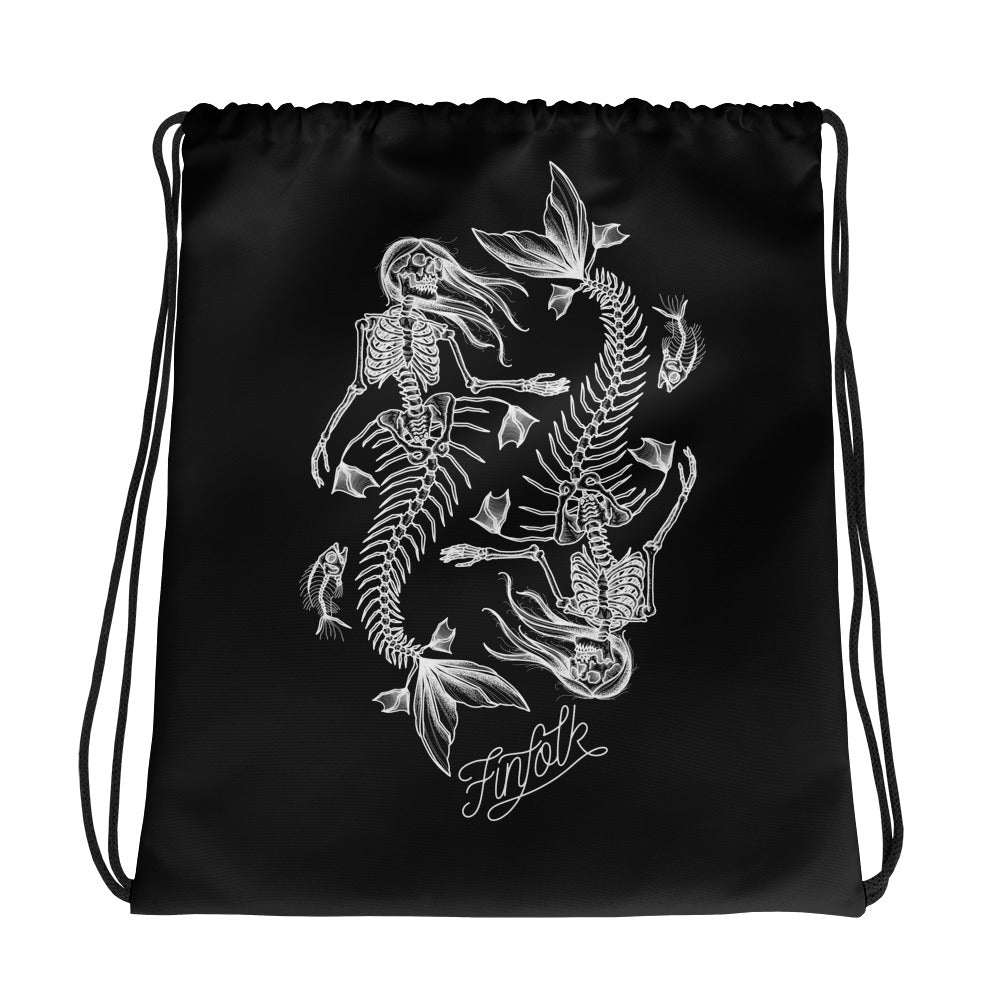 Deadly Depths Drawstring Bag