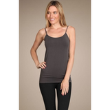 M. Rena Extra Soft Basic Cami Spaghetti Strap Camisole Dark Grey | Shop Willa June