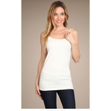 M. Rena Extra Soft Basic Cami Spaghetti Strap Camisole Off White | Shop Willa June