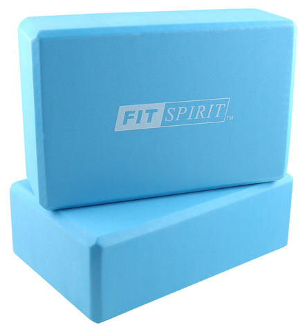 "Set of 2 Exercise Yoga Blocks - 9"" x 6"" x 3"""