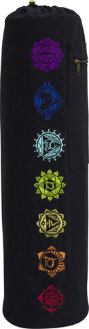 7 Chakra Exercise Yoga Mat Bag w/ Cargo Pocket - Choose Your Color (MAT IS NOT INCLUDED)
