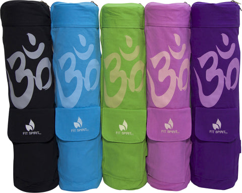 OM Exercise Yoga Mat Bag w/ 2 Cargo Pockets - Choose Your Color (MAT IS NOT INCLUDED)