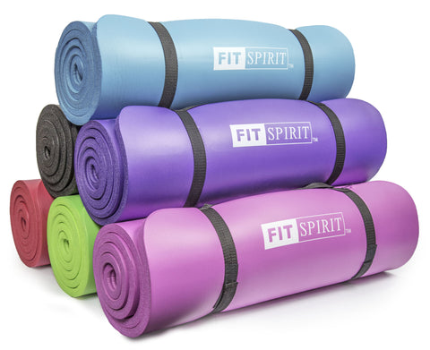 1/2 Inch Comfort NBR Exercise Yoga Mat  - Choose Your Design & Color