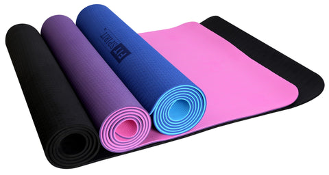 "6mm 1/4"" Inch TPE Exercise Fitness Yoga Mat - Choose your Color"