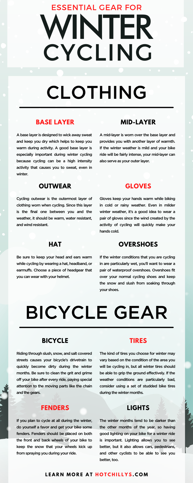 Essential Gear for Winter Cycling