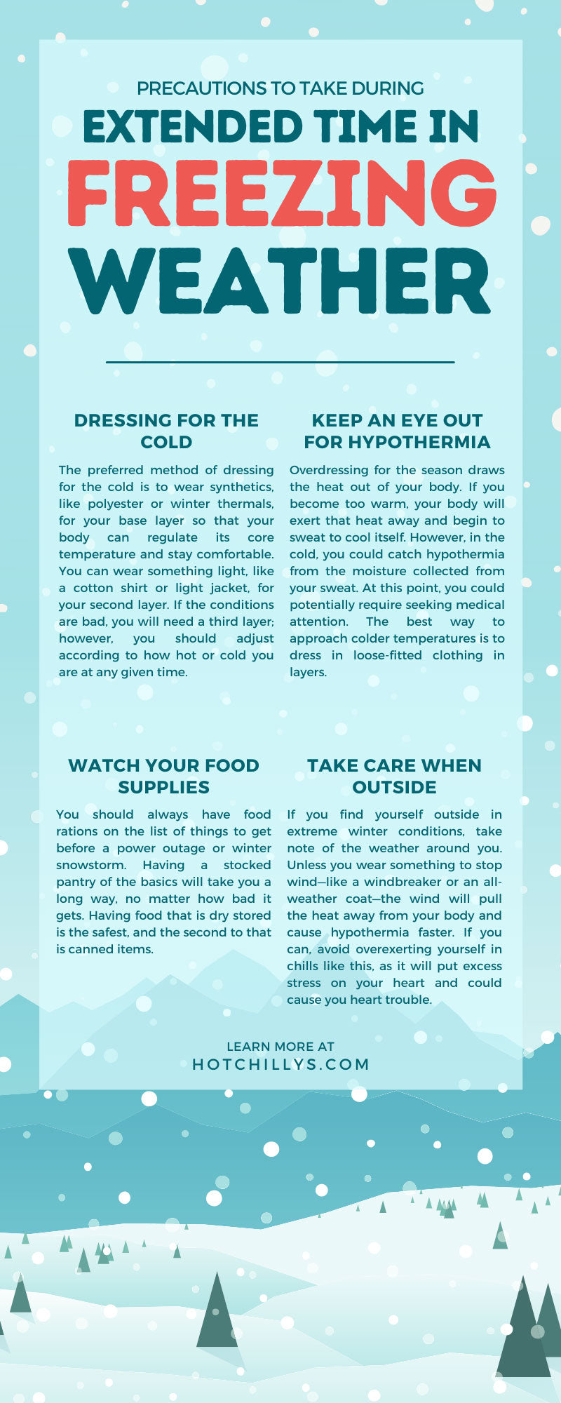 Precautions To Take During Extended Time in Freezing Weather