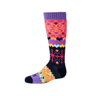 Youth Winter Pixel Mid Volume Sock - Hot Chillys