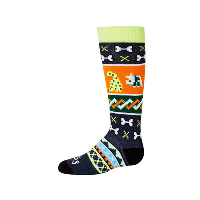 Youth Dinosaur Mid Volume Sock - Hot Chillys