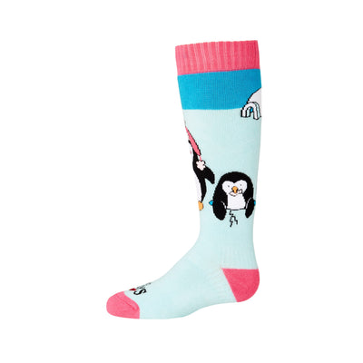 Youth Penguins Mid Volume Sock - Hot Chillys