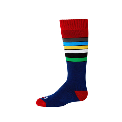 Youth Retro Stripe Mid Volume Sock - Hot Chillys